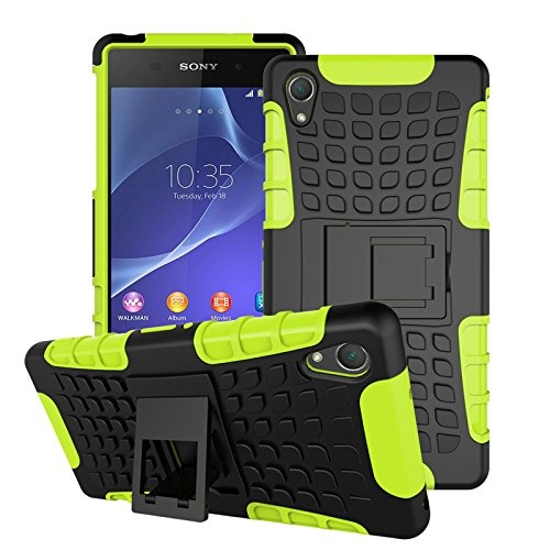 Flash Sale Tough Heavy Duty Shock Proof Defender Cover Dual Layer Armor Combo Protective Hard Case Cover for Sony Xperia Z2 5.2 Inch - intl