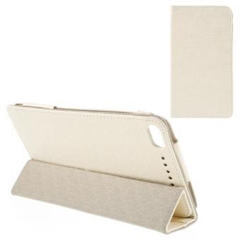 Tri-fold Stand kulit sampul untuk Lenovo PHAB Plus PB1-770 N 6.8-inci baris tekstur - Beige