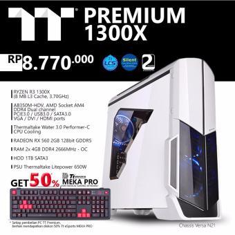 TT Premium PC Gaming Ryzen 1300X - Putih