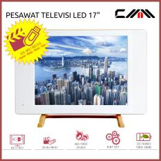 TV MONITOR LED 17 Inch - CMM - USB Movie - HDMI - VGA - AV - PUTIH