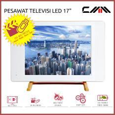 TV MONITOR LED 17 Inch - CMM - USB Movie - HDMI - VGA - AV - PUTIH