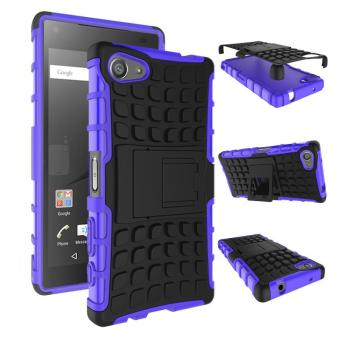 Two Pieces Anti-slip PC + TPU Hybrid Cover Case for Sony Xperia Z5 Compact - Purple - intl