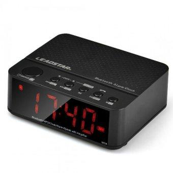 Ubit Speaker Bluetooth Portable Desktop Alarm Clock Radio FM Hitam ...