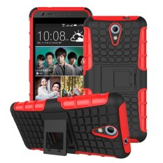 UEKNT Hybrid Dual Layer Tough Heavy Duty Perlindungan Shockproof Protective Kickstand Cover Case untuk HTC Desire 620/820 Mini (Merah) -Intl