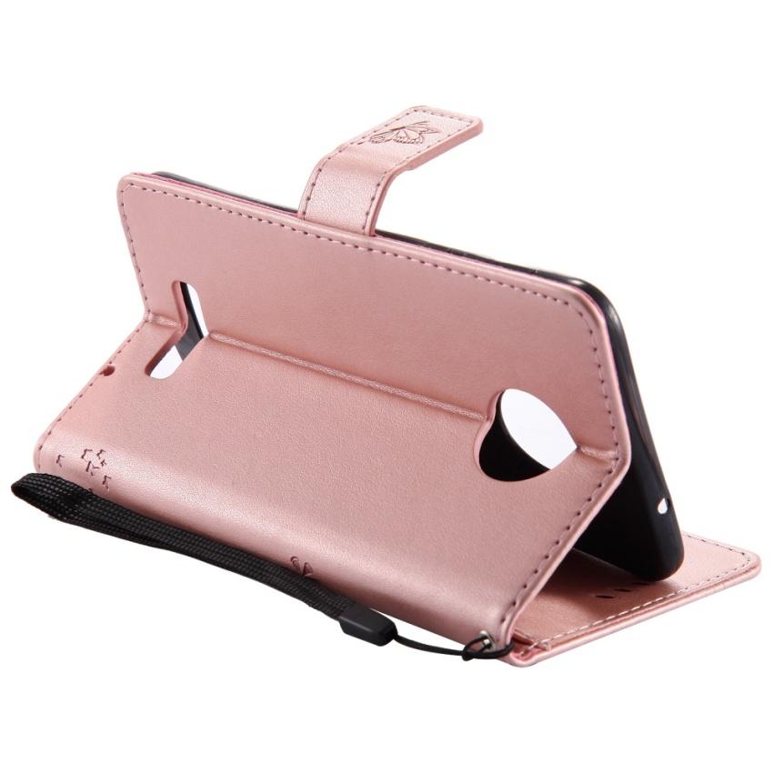 Ueokeird Fashion Pohon Pelindung Berdiri Dompet Dompet Kartu Kredit Pemegang Magnetic Flip Folio TPU Soft Bumper