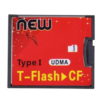 UINN Red & Black T-Flash to CF type1 Compact Flash Memory Card UDMA Adapter
