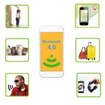 Ultra-thin Triangle Smart Mini Bluetooth Tag Tracker Key Wallet Pet Child Finder GPS Locator Alarm - intl