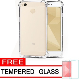 Ultrathin Anti Shock Xiaomi Redmi 4A Softcase Anti Jamur Anti Crack Redmi4A Air Case 0.3mm / Silicone / Soft Case Xiaomi Redmi 4A / Case Hp Redmi 4A Free Temper Glass - Transparant