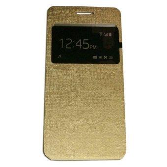 Ume Asus Zenfone 2 Laser ZE601KL Ukuran 6.0 Inch / Zenfone LaserView / Flip Cover / Flipshell / Leather Case / Sarung HP / SarungAsus Zenfone Laser - Emas