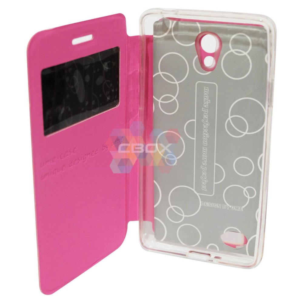 Ume FLip Leather Phone Cover for Oppo Joy 3 / Oppo A11W / Oppo A11/ ...