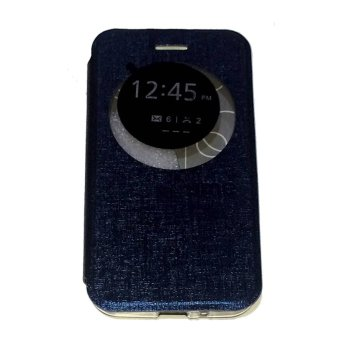 Ume FlipCover ASUS ZenFone Go Ukuran 4.5 Inch ZC451TG Flip Shell /Leather Case / Sarung HP / View - Biru Tua