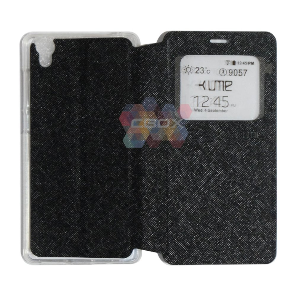 Flash Sale Ume Flipcover For Vivo Y51 Flipshell / Leather Case / Sarung Case /Sarung HP / View - Hitam