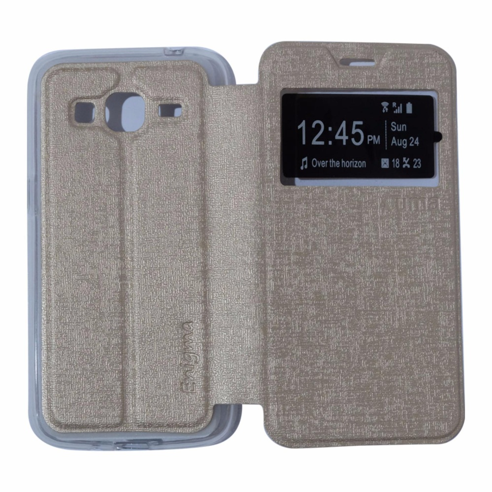 Ume Leather Cover Samsung Galaxy Grand 3 G7200 Leather Case Sarung/ Flipshell .