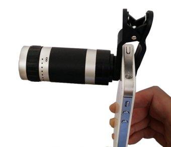 Uniqtro Telezoom 8X Smartphone untuk Lenovo Vibe Shot Z90 - Hitam