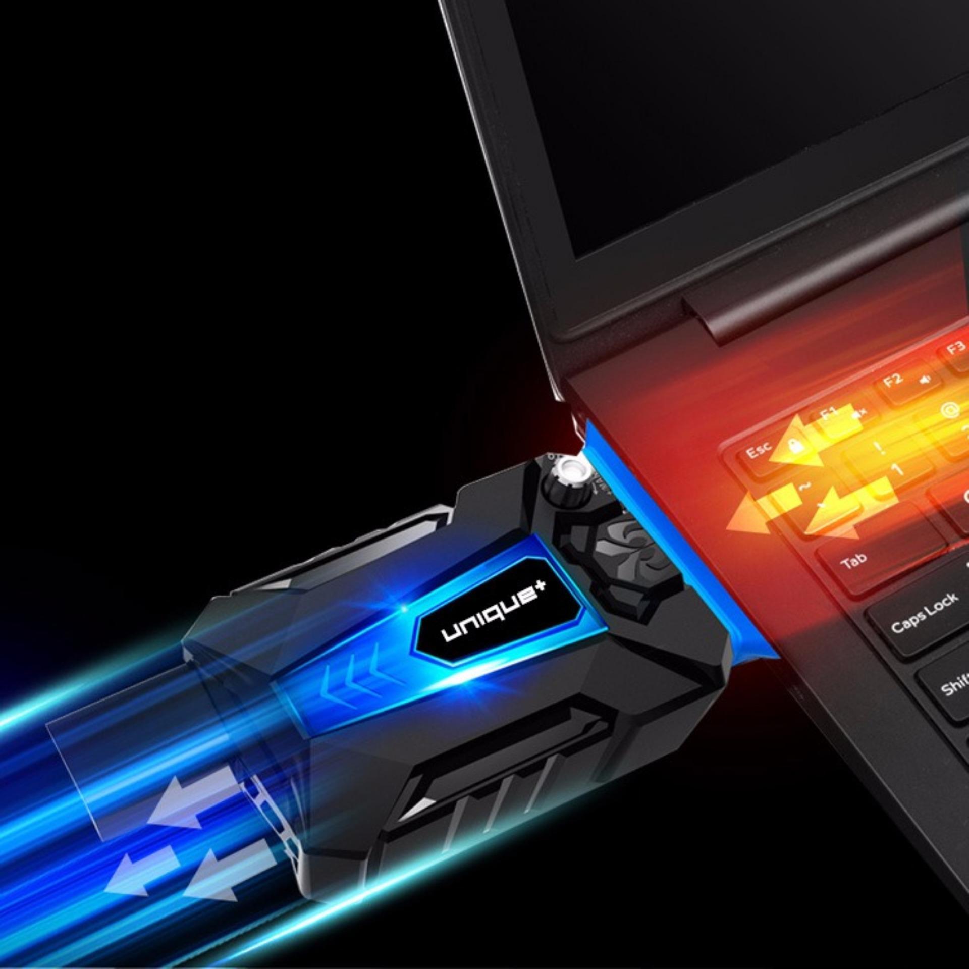 Daftar Harga Unique Cooling Pad Cooler Vacuum Hisap Pendingin Laptop Kipas Universal Gaming K27 Hitam
