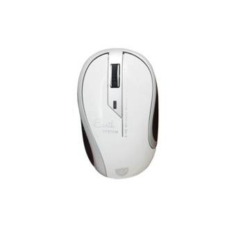 uNiQue Mouse Wireless Earth Series Mouse Nirkabel - Wireless Mouse Untuk Komputer dan Laptop PC - Putih
