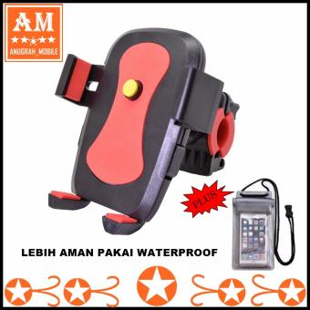 Universal Phone Holder Automatic Grip 360? Universal Holder untuk Sepeda / Motor + Waterproof