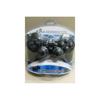 USB Joystick Single Shock / Gamepad Single Getar Hitam