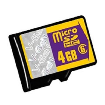 V-Gen Micro SD 4GB Class 6 Memory Card - 4 GB
