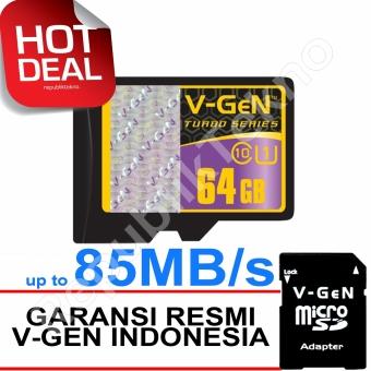 V-Gen MicroSDHC 64GB Turbo - 85MB/s Class10 USH-1 Micro +