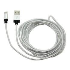 Vanker 2 Pcs 3 M Kabel Tembaga Micro USB Data Sync Universal Kabel Pengisian untuk Samsung HTC untuk LG (Silver) -Intl
