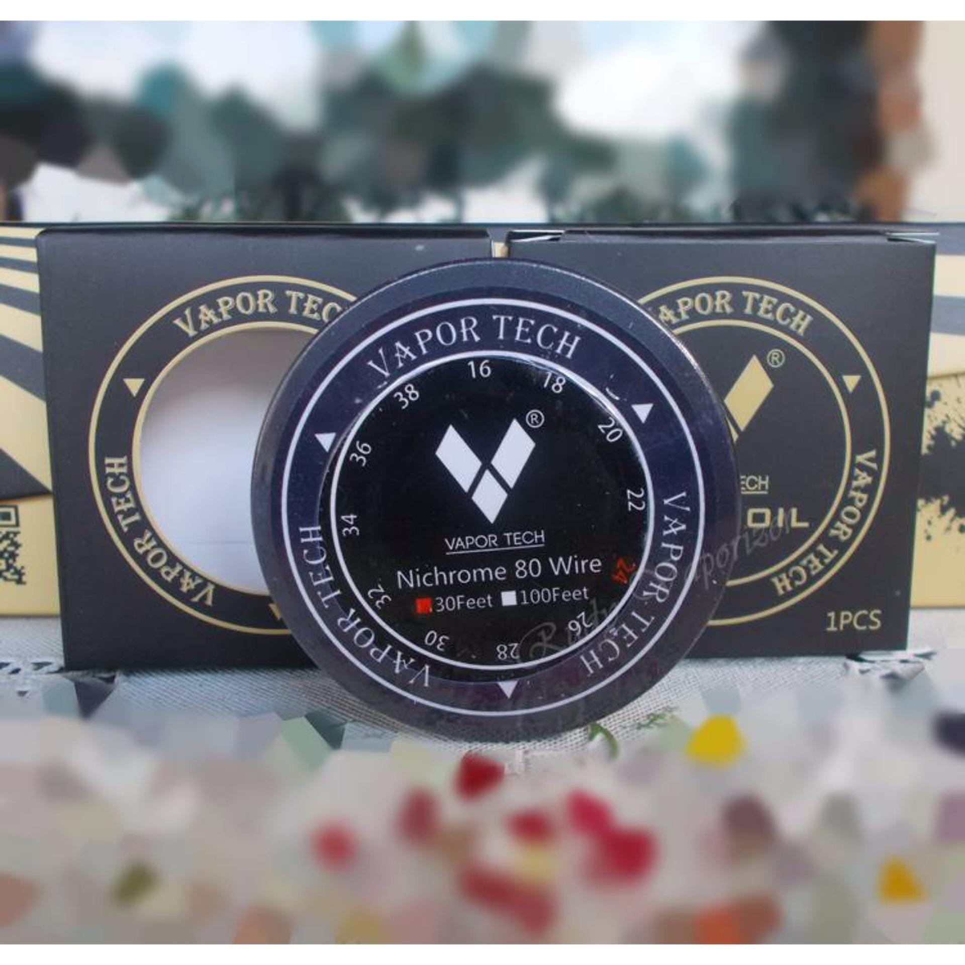 Harga Saya Vaportech Nic Nichrome 80 26 Awg 30 Feet Coil Vape Kawat Khantal A1 Wire Vapor