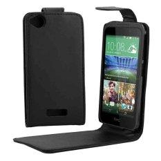 Vertikal Flip Solid Warna Leather Case untuk HTC Desire 320 (Hitam)-Intl