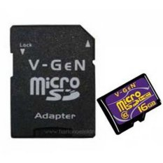 Vgen Memory Card Micro SD Class 10 - 16 GB + Adapter