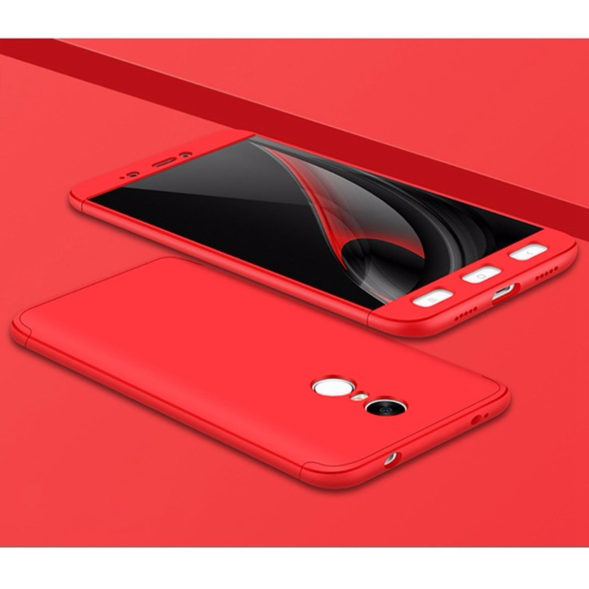 ... Viking Case Front Back 360 Degree Full Protection Xiaomi Redmi Note 4X Snapdragon - Red + ...