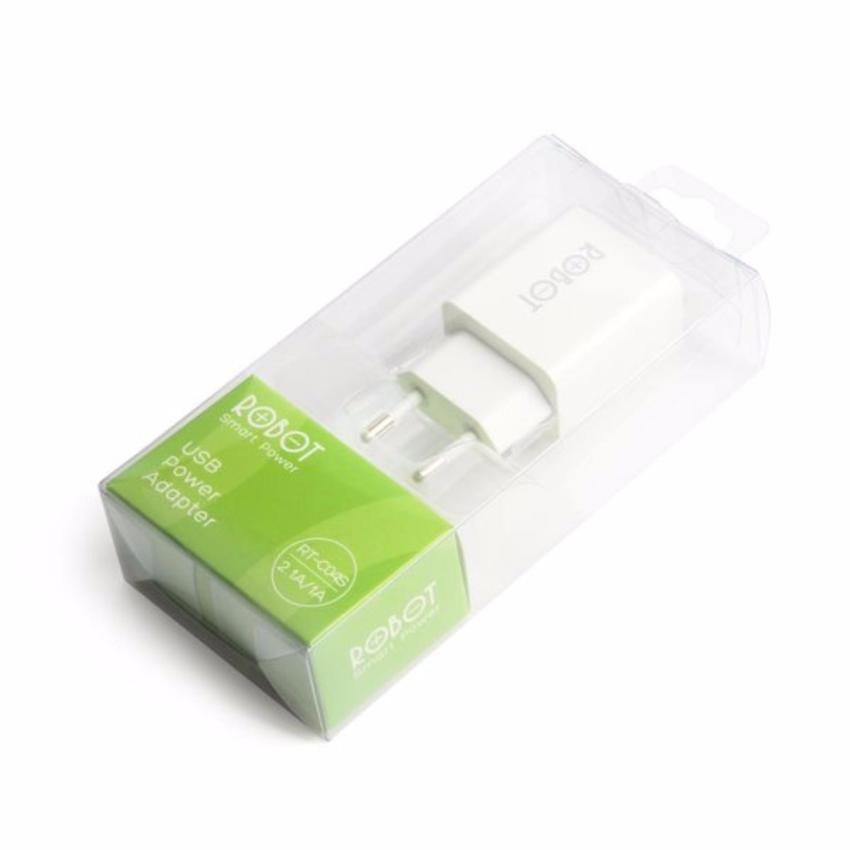 Vivan ROBOT RT-C04S Dual USB Ports Charger Adapter White - Putih Bergaransi Resmi