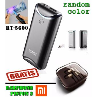VIVAN Robot RT5600 5200mAh Power Bank(RANDOM COLOR)+ handsfree xiaomi piston 2