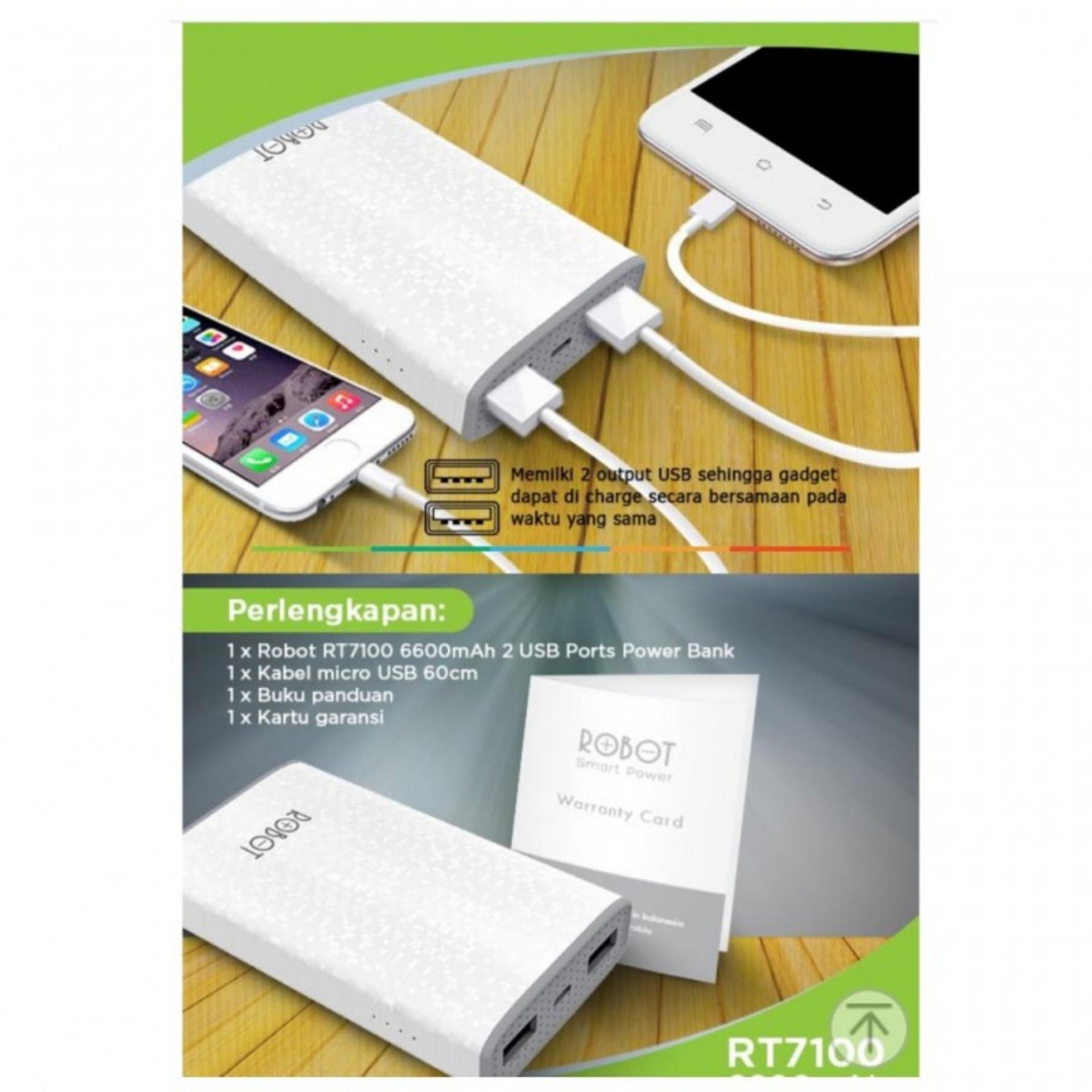 Price Checker Vivan Robot Rt7100 6600mah 2 Usb Ports Power Bank 100 Keunggulan Dan Toshiba Flashdisk