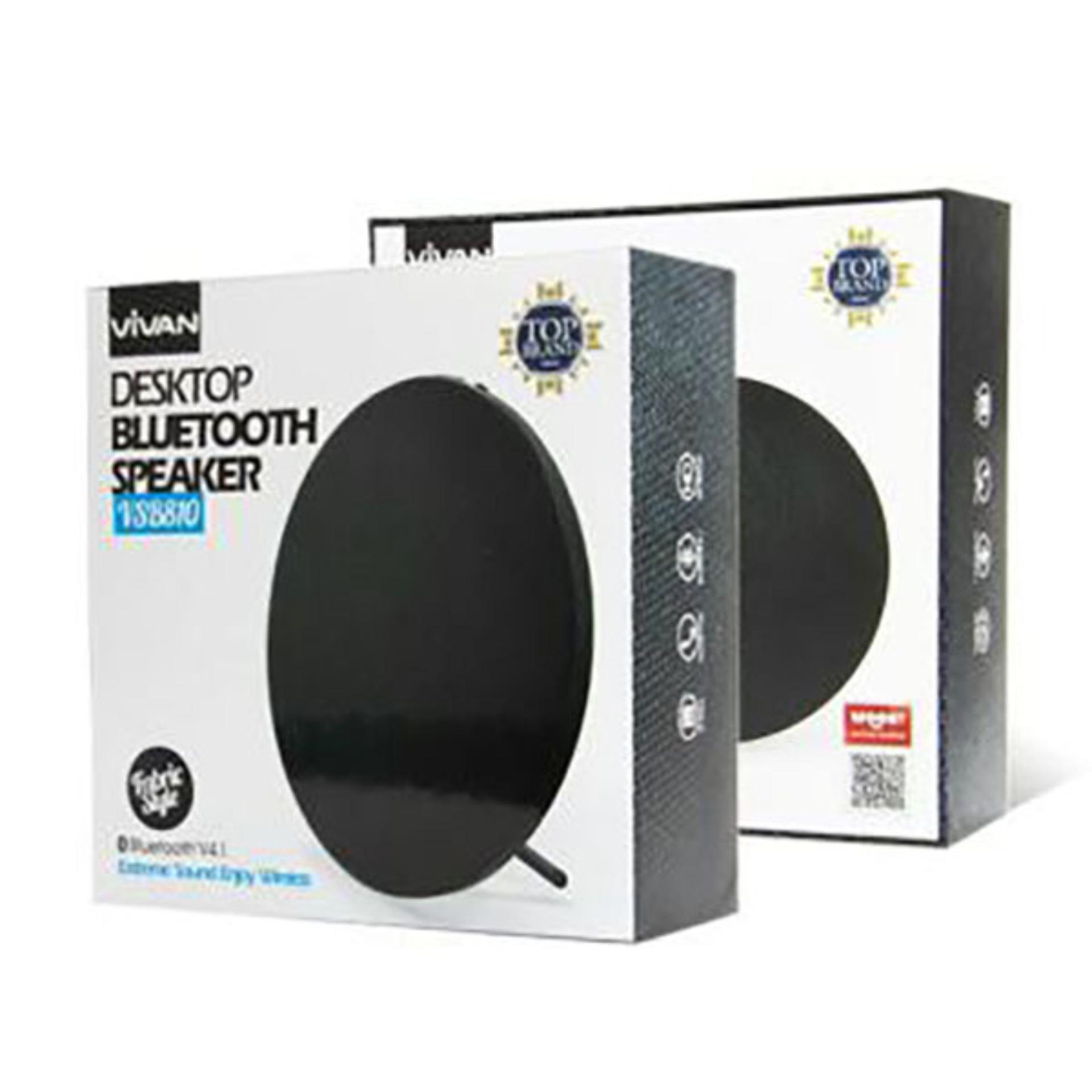 Vivan Speaker Portable Mini Bluetooth With Lamp Putih Update Robot Rb430 30 Square Hifi Black De032 Vsb810 Desktop V41 Hitam