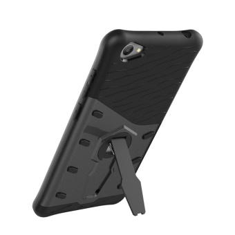Vivo Y55 Cases, [Kickstand Feature] Rotate Stand Holder Protective Shell Hybrid Bumper Armor Rubber Shockproof Case Cover for Vivo Y55/Y55A cases - intl - 4