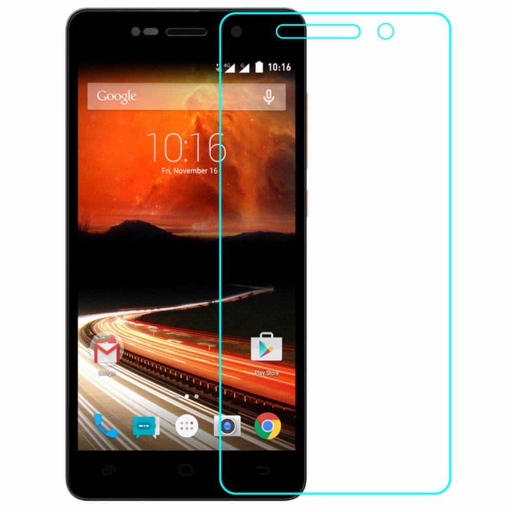Vn Tempered Glass 9H For Smartfren Andromax R 2D Round Curved EdgeScreen Protector .