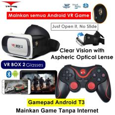 VR Box 2 Play More VR Game with Magnet 3d Vr Glasses Kacamata Cardboard (VB2+T3)