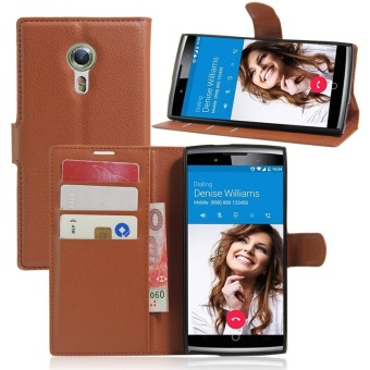 Wallet Flip Leather Case For Alcatel Flash 2/Alcatel OneTouch Flash2 (Brown) - intl