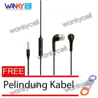 Wanky Stereo Headset For Samsung S4/S5 - Hitam + Gratis Pelindung Kabel