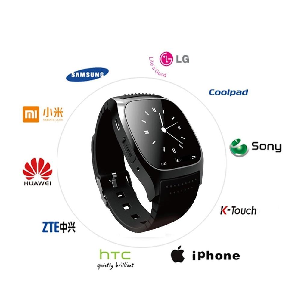 ... Waterproof Bluetooth ponsel jam tangan pasangan untuk IOS Android hitam