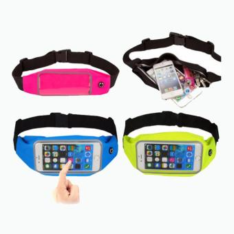 Waterproof Sport Waist Bag for Handphone Android for Oppo R9S- Biru