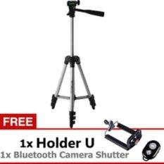 Weifeng Tefeng Tripod WT-3110A - Hitam + Gratis Holder-U + Bluetooth Camera Shutte