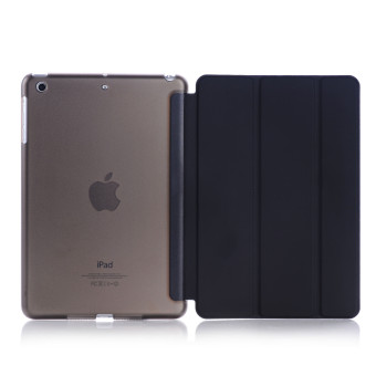 Welink Ultra Slim Smart Cover PU Leather Case for Apple iPad Mini 4(Black)