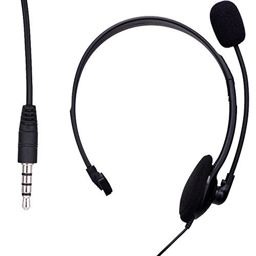Wired Game Microphone Mic Headset for Playstation 4 PS4 UK (Black)