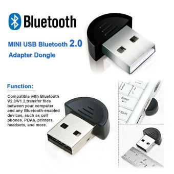 Wireless USB 2.0 Bluetooth Adapter Dongle V2.0 EDR for PC LaptopComputer Desktop (Intl)