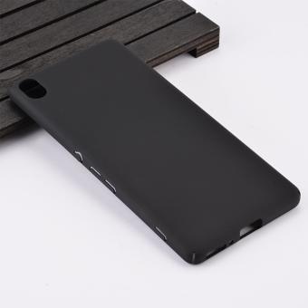 Wrapped Edges Rubberized Hard Case Cover for Sony Xperia XA / XA dual - Black -