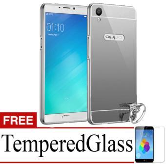 X Case Mirror Aluminium Bumper For Oppo F1 Plus (A37) Free Tempered Glass -