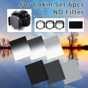 XCSource 6pcs ND2 ND4 ND8 + Gradual ND2 4 8 Filter Set for Cokin PSeries with
