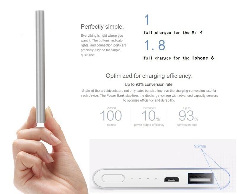 Xiaomi Asli MI Power Bank 5000 mAh Super Slim - Silver .