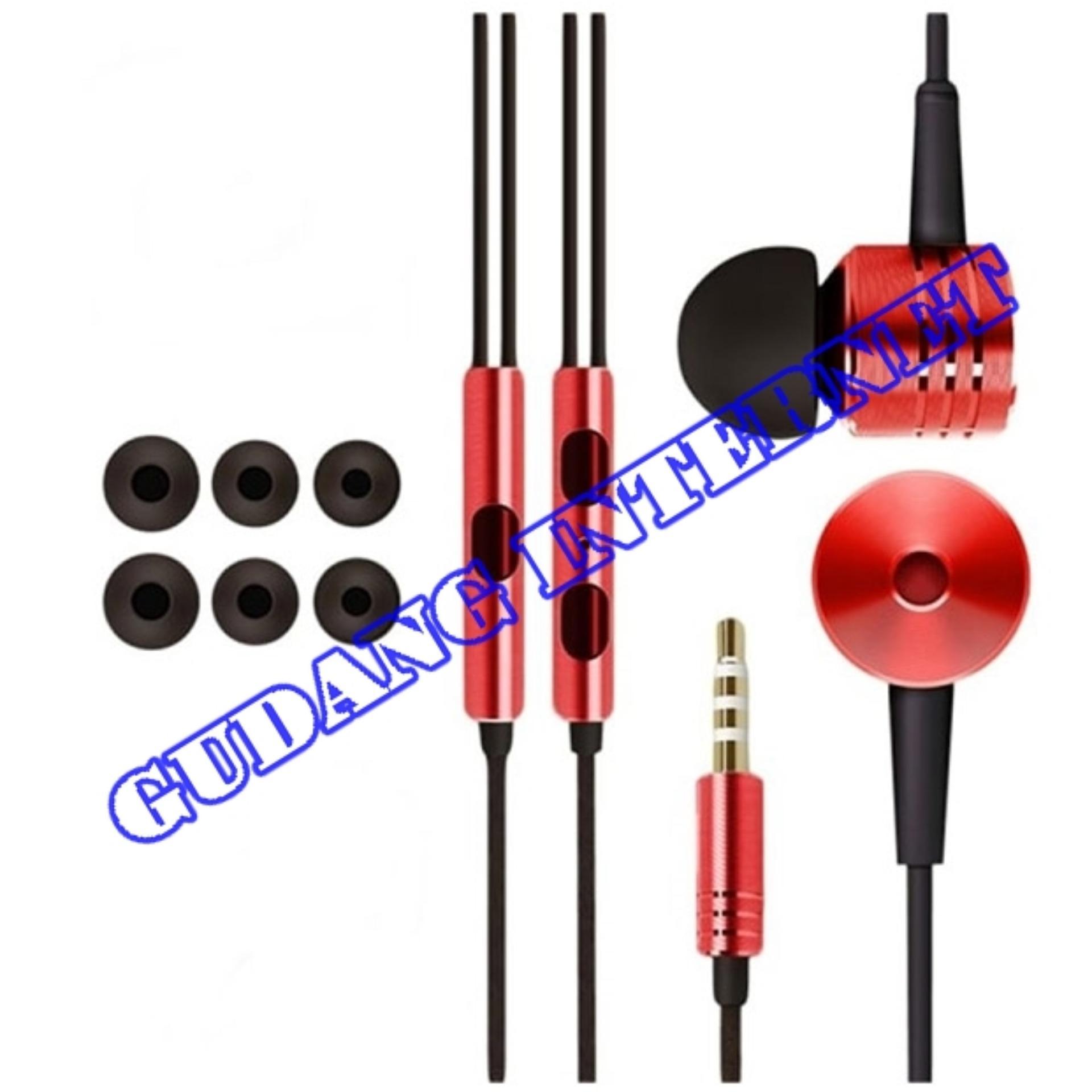... Xiaomi Earphone Big Bass Piston Mi 2nd Generation Handsfree/Headset- merah(RED) ...