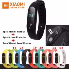 Xiaomi Mi Band 2 Smartband +2pcs Screen Protector + 1pcs Strap